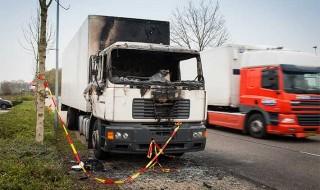 Uitgebrande truck Dinxperlo