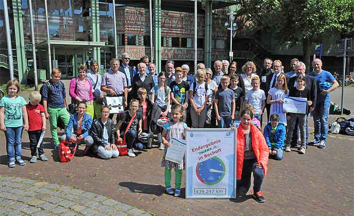 Gewinner der Aktion Stadtradeln in Bocholt