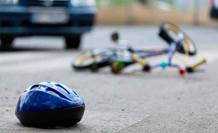 Symbolbild vom Unfall eines Fahrradfahrers