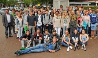 Niederländische Schülergruppe