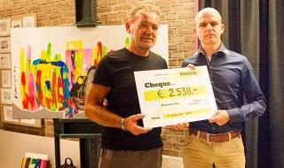 Martijn Melten en Theo Janssen Cheque Enveloop
