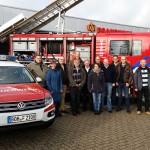 Redakteure der Feuerwehrzeitung besuchen die Wache in Dinxperlo