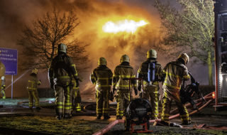 Brandweer Dinxperlo op Vierde Broekdijk in Aalten