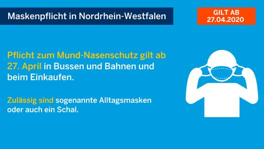 Maskenpflict Graphic NRW
